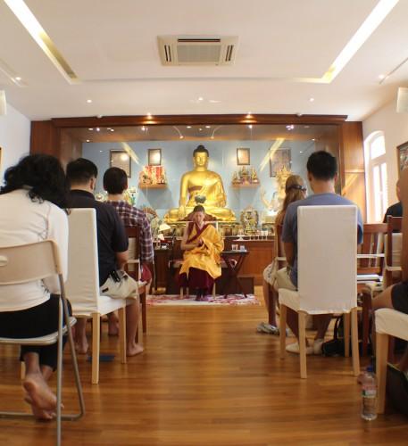 Talk in the meditation room