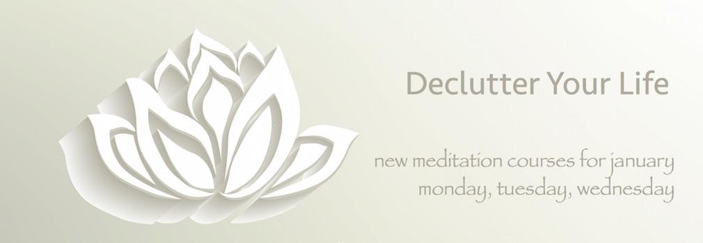 declutter your mind meditation class