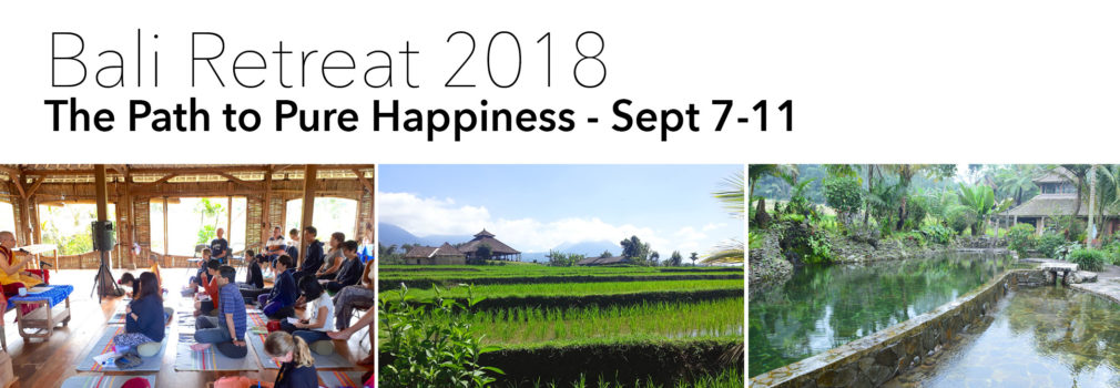 Bali retreat 2018
